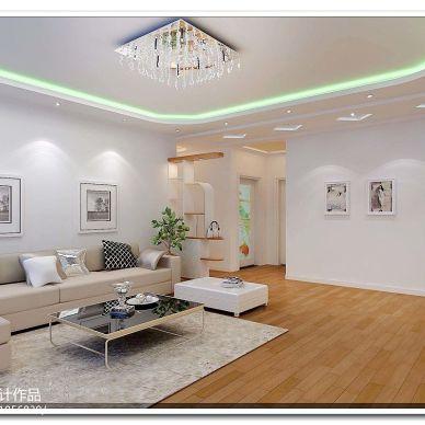 桂园新村 现代客厅吊顶吊灯装修效果图