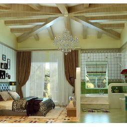 家的色彩田園清新臥室隔斷家具窗簾裝修設計效果圖