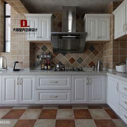 欧式厨房地板砖装修效果图