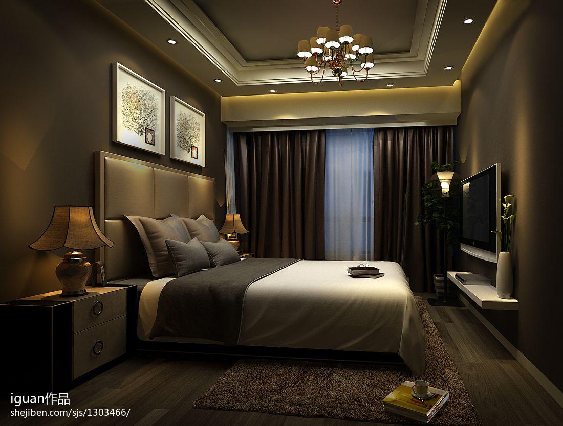 餐厅吊灯模型_现代风格卧室吊顶吊灯装修效果图 – 设计本装修效果图