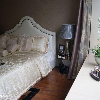 中汇城样板房中式新古典卧室装修效果图