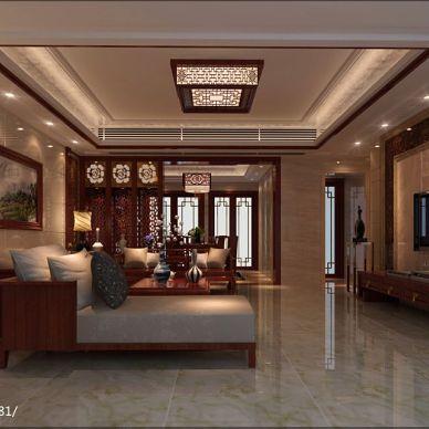 潮州-嘉和名苑中式大气客厅装修效果图片