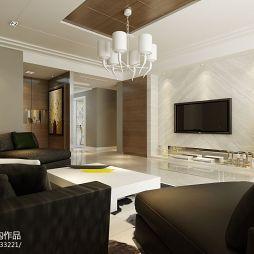 现代风格 原木风味客厅整体装修效果图