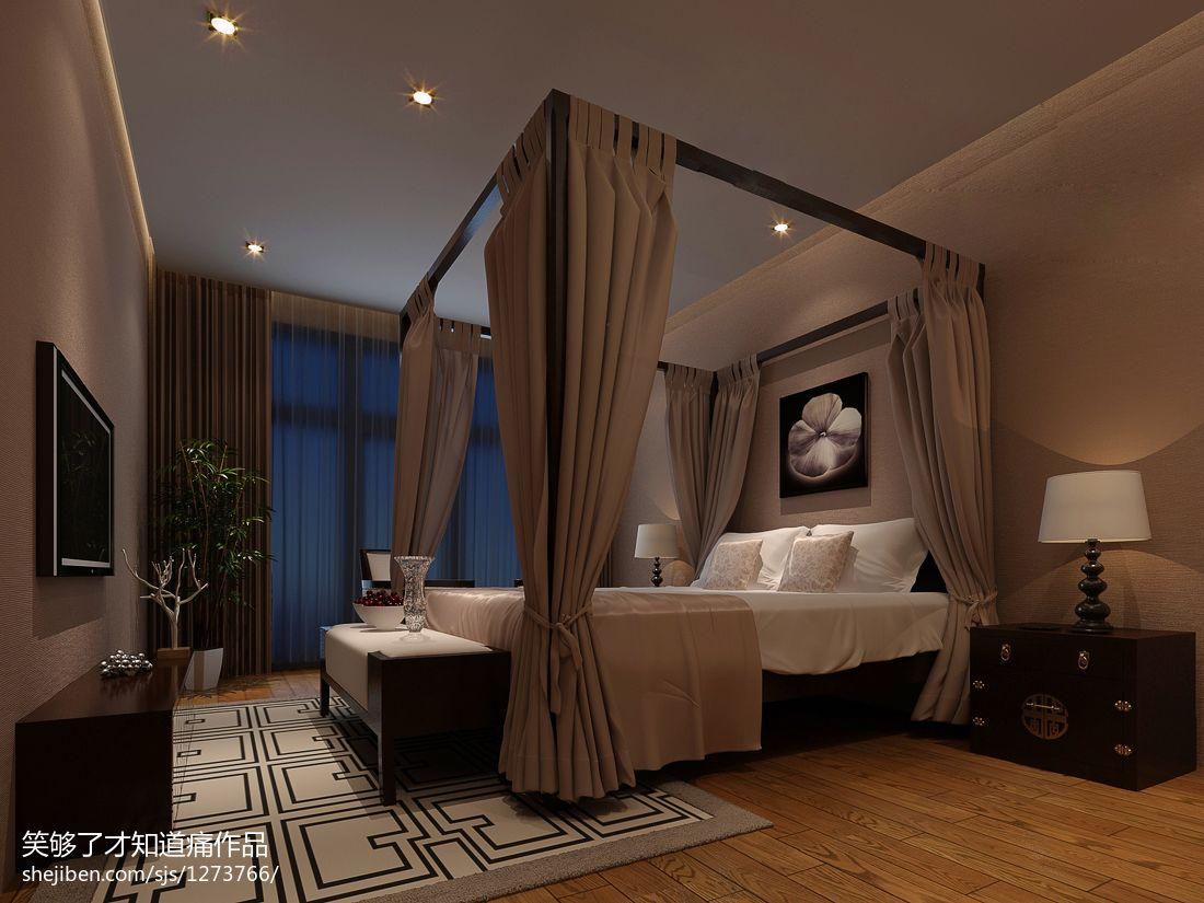 现代简约卧室家具地板壁纸装修效果图 设计本装修效果图