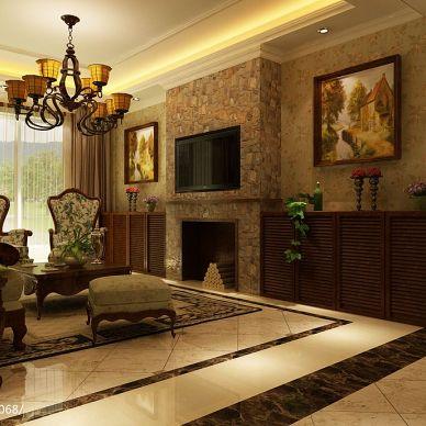 铂宫·海派风格混搭客厅装修效果图片