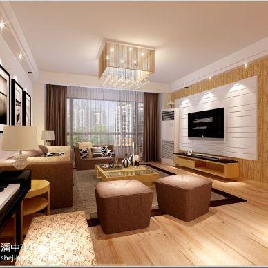大江观邸现代客厅装修设计效果图