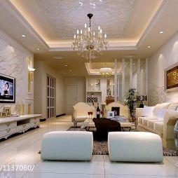 河源龙川泰华城欧式客厅装修设计效果图