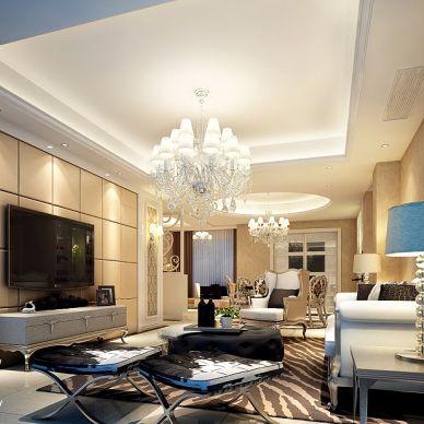 玉树欧式客厅设计效果图