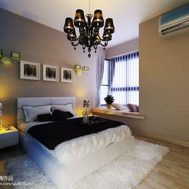 现代简洁不简单卧室装修效果图