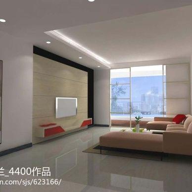 乐山现代客厅隔断电视墙设计效果图