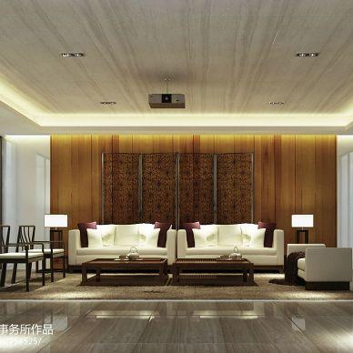 曦城别墅中式客厅装修设计效果图