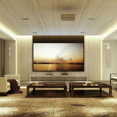 曦城别墅大气中式风格客厅装修效果图
