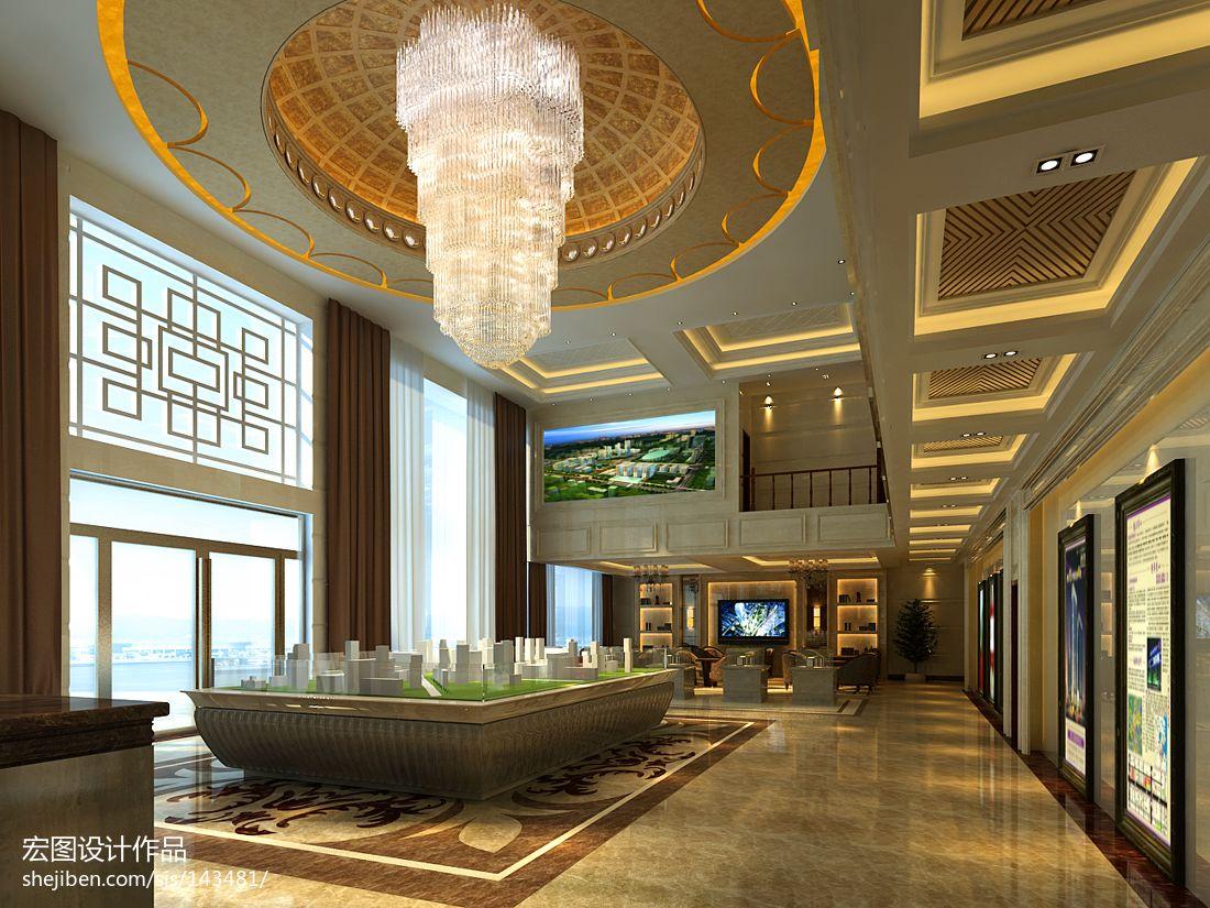 商丘酒店_欧式售楼部_1135553 – 设计本装修效果图