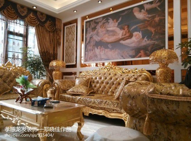 乾坤豪府欧式客厅壁画设计装修效果图