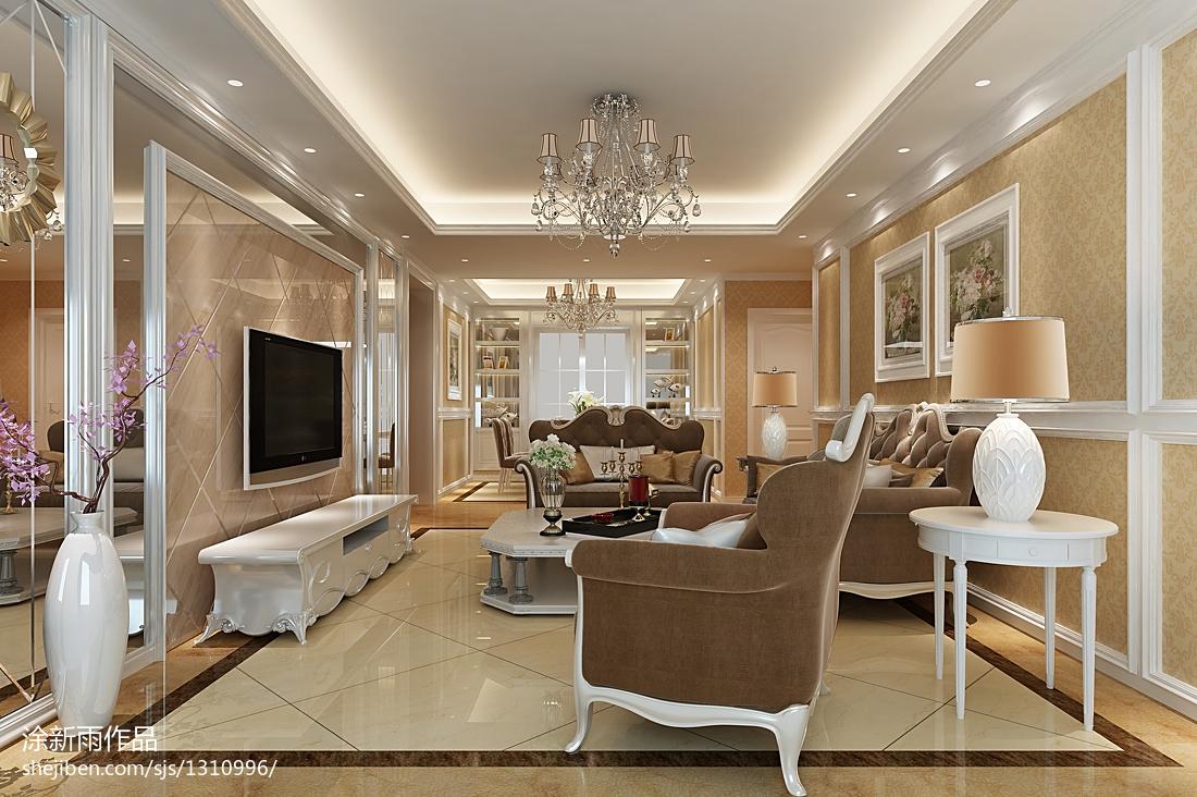 简约家居装饰效果图_温馨家居欧式风格客厅装修效果图 – 设计本装修效果图