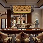 豪华别墅中式风格餐厅装修效果图