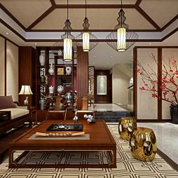 别墅中式风格客厅吊灯图片