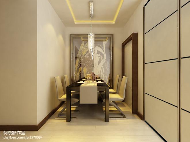 哈尔滨经典小户型餐厅吊顶吊灯装修设计