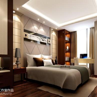 新中式卧室家具隔断装修设计效果图