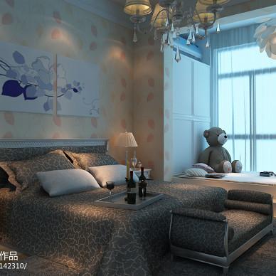 澜山和府现代风卧室飘窗装修效果图