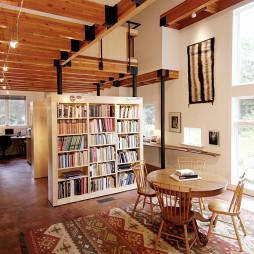 客厅书房一体家装效果图