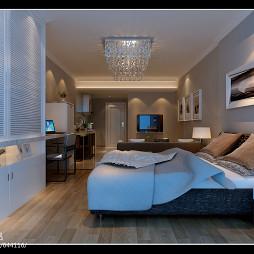 南昌市达观国际_现代卧室吊灯装修设计效果图