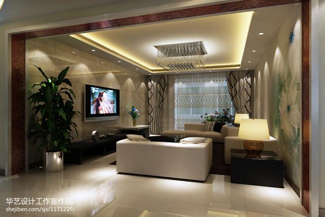 简约-爱现代客厅背景墙装修效果图