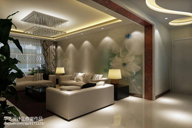 简约-爱现代客厅背景墙装修效果图片