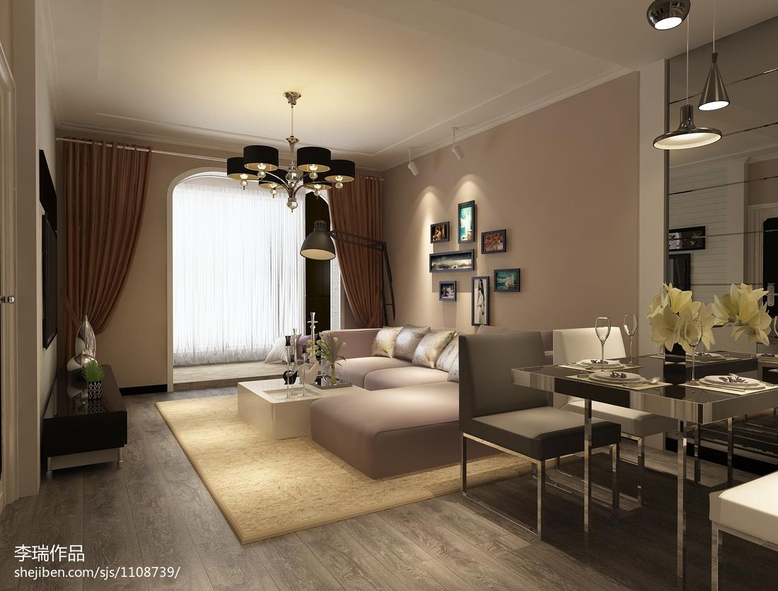 客厅窗帘装修图片_后现代室内客厅窗帘设计效果图 – 设计本装修效果图