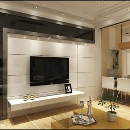 简约设计现代风客厅电视墙隔断装修效果图