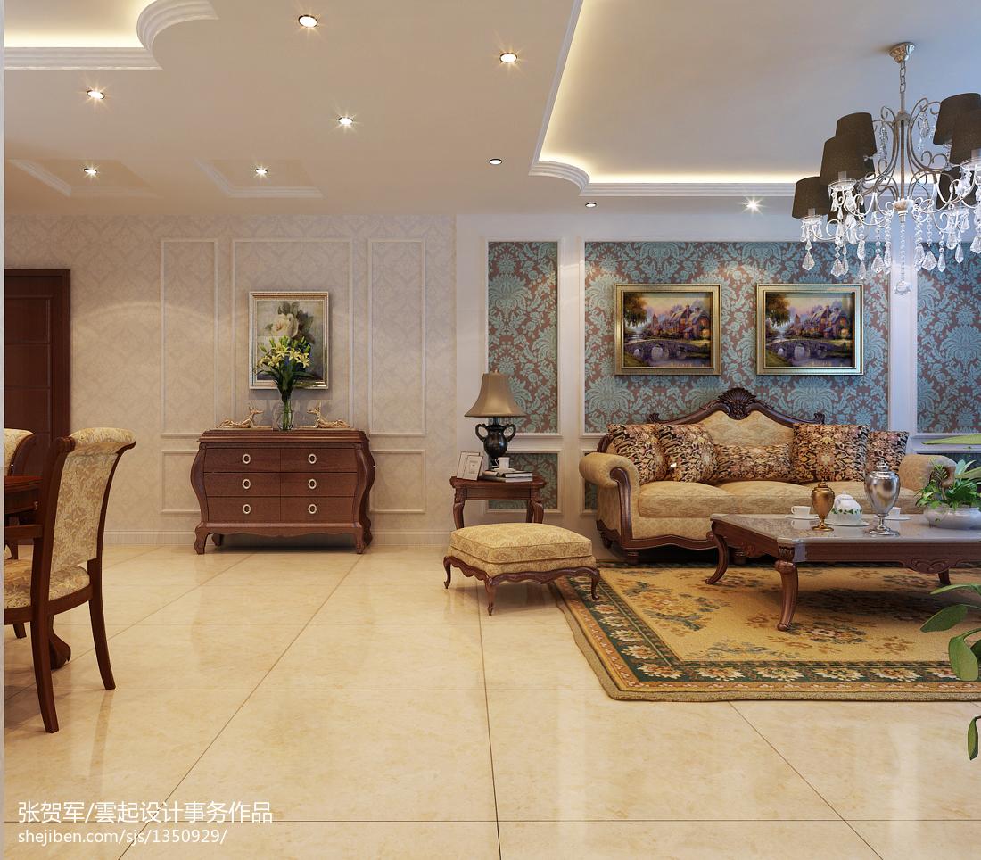 客厅墙纸设计效果图_创新欧尚客厅背景墙壁纸装修效果图 – 设计本装修效果图