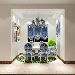 家装_地中海时尚餐厅壁画装修设计效果图