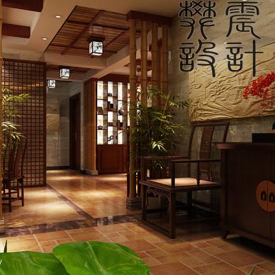 竹林深处 中式玄关柜装修效果图
