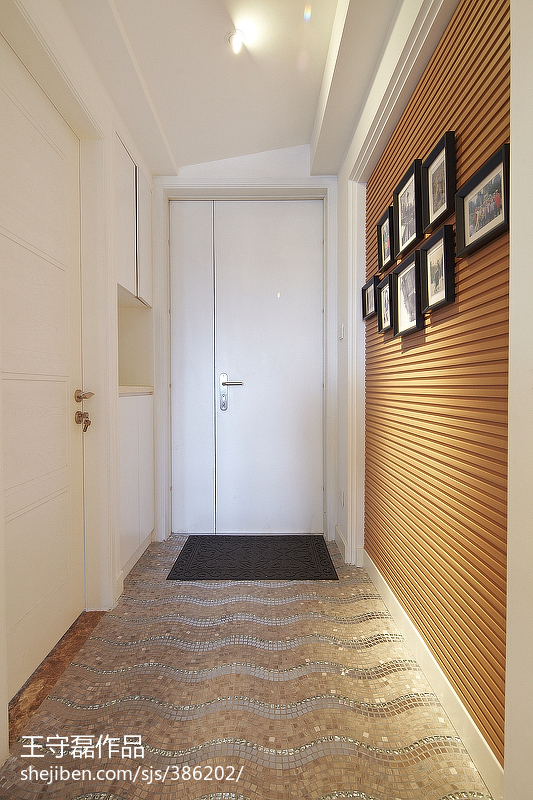衣帽间门设计效果图_现代简约风格_进门过道背景墙装修设计效果图 – 设计本装修效果图