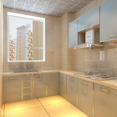 广利花园_现代厨房瓷砖装修设计效果图