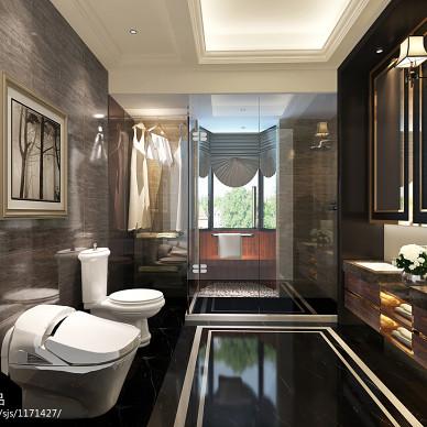 别墅_欧式卫生间干湿区装修设计效果图