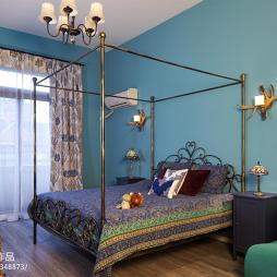 老榆木床卧室装修图片