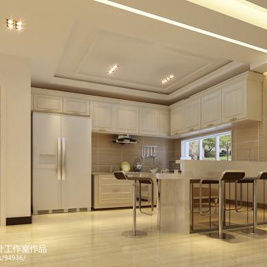 青岛现代时尚餐厅厨房装修设计效果图