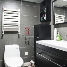 混搭小卫生间置物架装修设计效果图