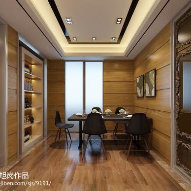 新中式厨房餐厅酒柜装修设计效果图