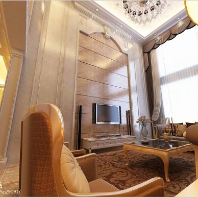 欧式风格客厅电视背景墙装修效果图片