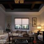 170㎡梨园中式风格客厅吊顶装修效果图