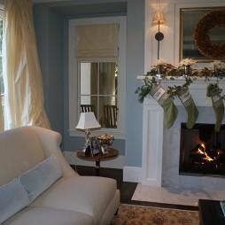 客厅圣诞装饰品布置图片