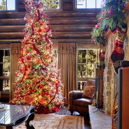 客厅圣诞装饰品布置图片欣赏