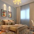 美式风格儿童房窗帘搭配效果图