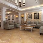 美式风格客厅背景墙装修设计图大全