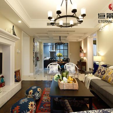 简约美式风格客厅设计