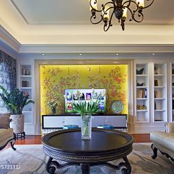 混搭客厅电视背景墙电视柜装修图片