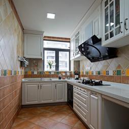欧式厨房瓷砖装修图片