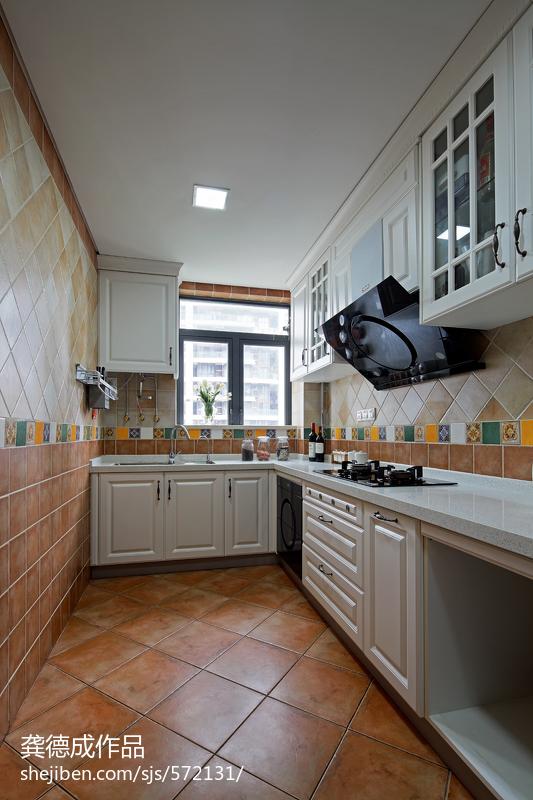 欧式厨房地砖效果图_欧式厨房瓷砖装修图片 – 设计本装修效果图